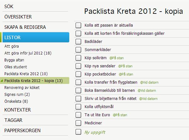 Kopia-av-lista